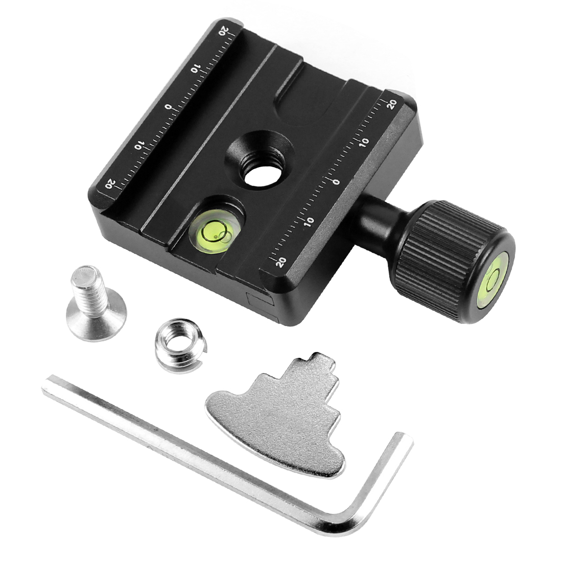 XILETU QR-50 Adapter Plate Square Clamp with Gradienter for Quick Release Plate for Tripod Ball Head  Q19819XILETU QR-50 Adapter Plate Square Clamp with Gradienter for Quick Release Plate for Tripod Ball Head  Q19819