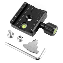 XILETU QR-50 Adapter Plate Square Clamp with Gradienter for Quick Release Plate for Tripod Ball Head  Q19819