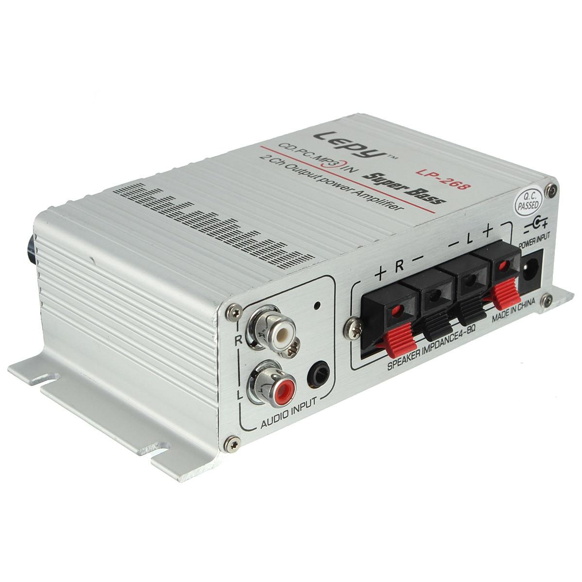 KROAK Auto Stereo Power Verstärker Hallo-fi 12 V Sound Modus Stereo Digital Auto Amp Radio Musik-Player Unterstützung MP3 CD aluminium
