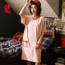 Women Clothes For Summer Nightgowns Casual Soft Cotton Sleepwear Dress Female Lounge Wear Night