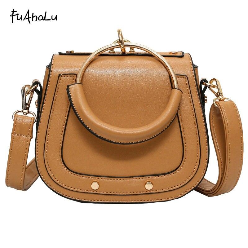 2017 new European and American fashion saddle bags spring summer portable shoulder Messenger bag