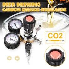 CO2 газовый регулятор для бутылки углекислого газа CO2 регуляторы давления редуктор для напитков пива W21.8 двойной измерительный прибор регулятор