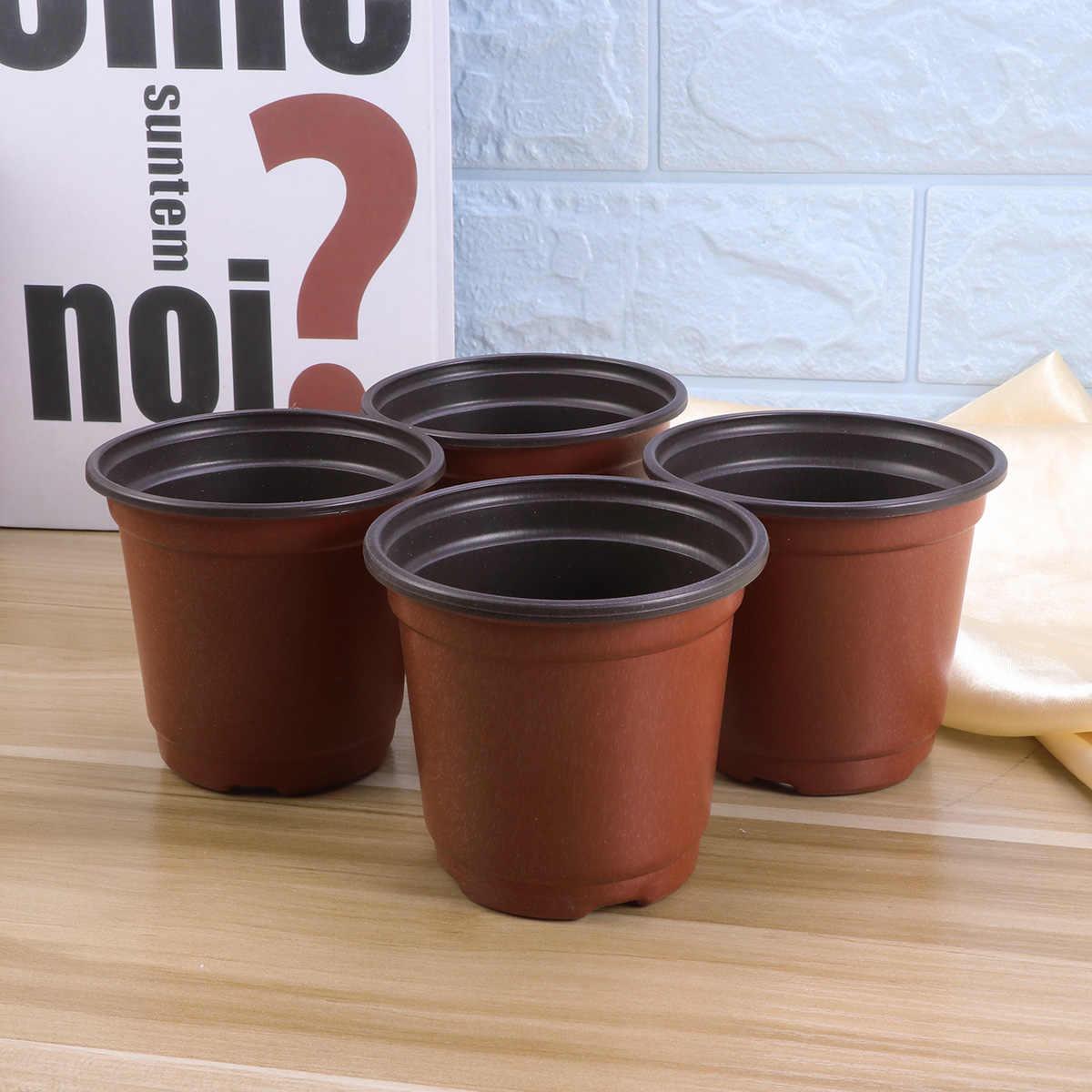 30 PCS Plástico Respirável Porcelana Criativo Titular da Bacia Potes Suculentas Vasos para Plantas Suculentas Flor