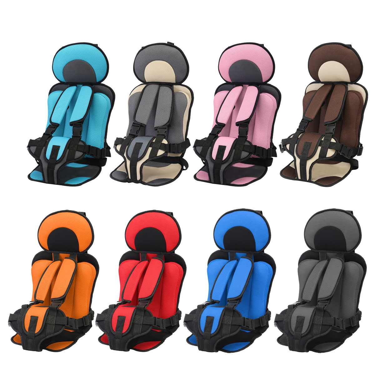 3~12 year old kids Safe Seat Portable Baby Safety Seat Children's Chairs Updated Version Thickening Sponge Kids Child Car Seats