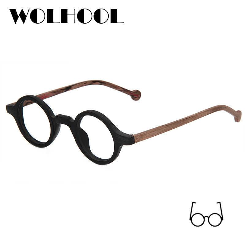 99e785b2ac ... Acetate Round Fashion Glasses Men Harry Retro Glasses Frames Fake  Glasses with Clear Lens Women Optical ...