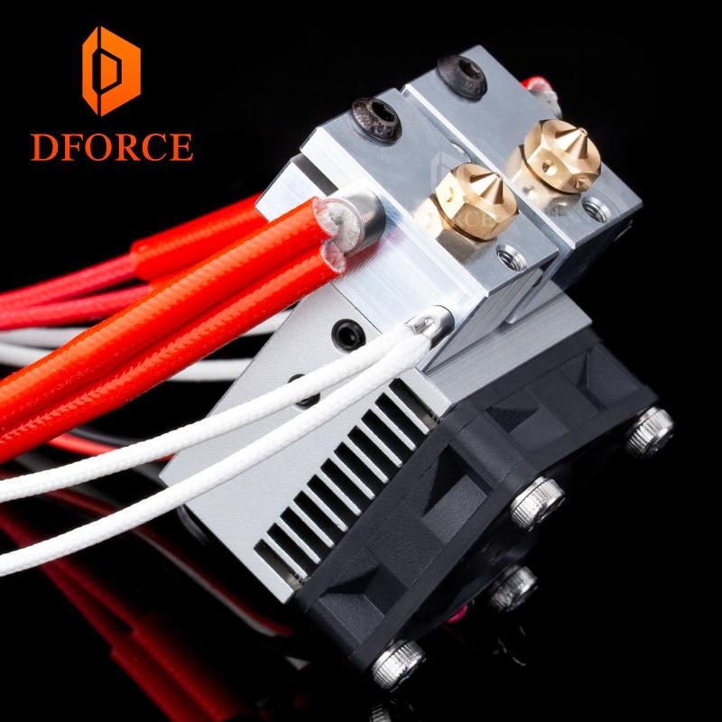 DFORCE Multi Extrusion double Extrusion refroidissement chimère + 2 en 2 pour imprimante 3D pour E3D hotend mise à niveau des accessoires