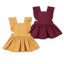 Toddler Baby Girl Ruffled Sundress Kids Girl Dresses Backless Baptism Party Pageant Dress