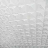 Ceiling Wallpaper 3d Stereoscopic White Diamond Tv Background Hotel Papel De Parede Living Room Bedroom Roof Wallpaper Roll