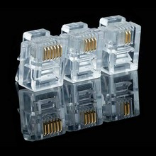 цена на 20/50/100PCS/lot RJ11 6P2C 6P4C 6P6C Telephone Internet Modular Plug Jack RJ11 Connector RJ-11 Crystal Heads