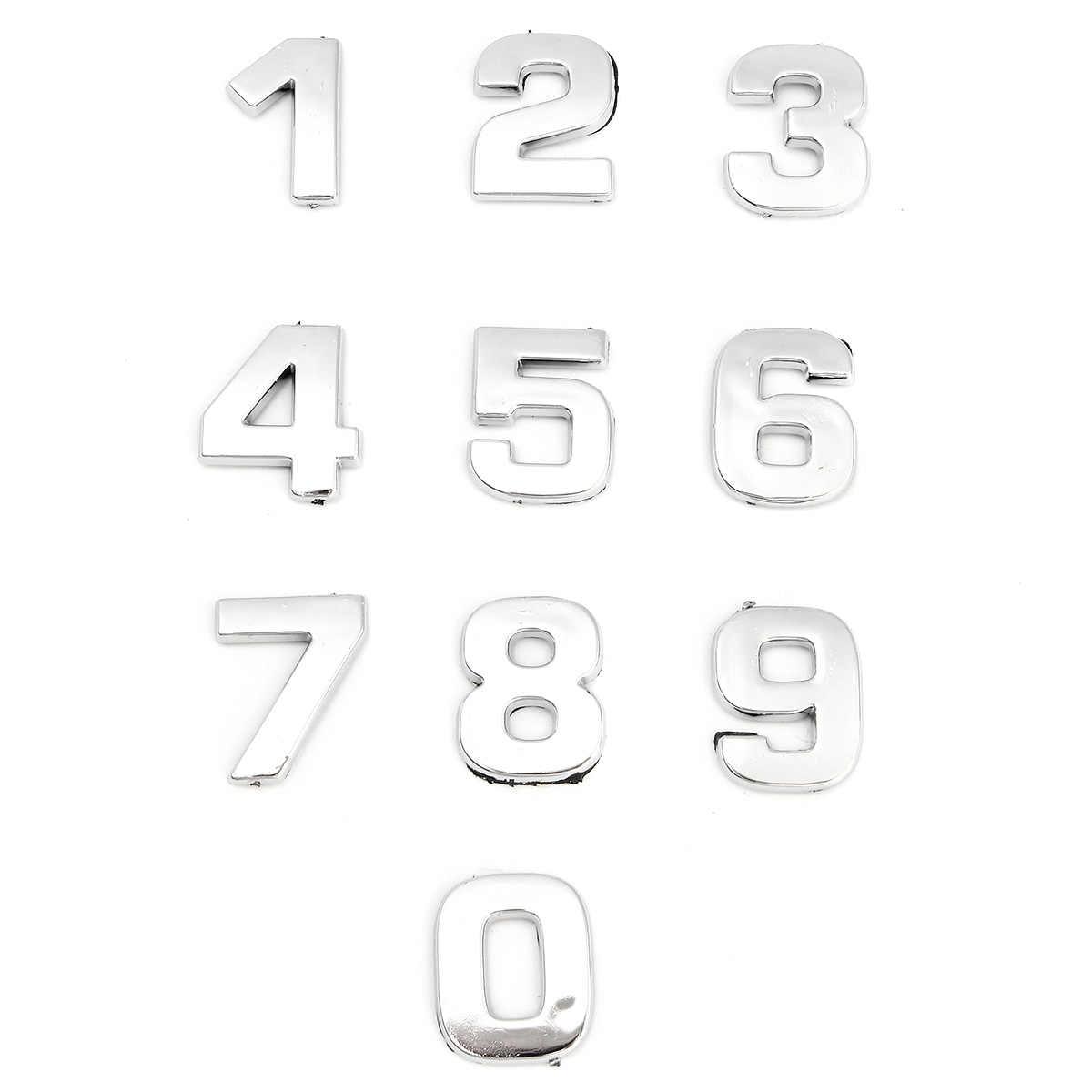 40 قطعة/المجموعة 3D DIY كروم ABS معدنية المعادن الاحرف عدد ملصقات شعار السيارة إلكتروني شارة رمز لصائق السيارات التصميم
