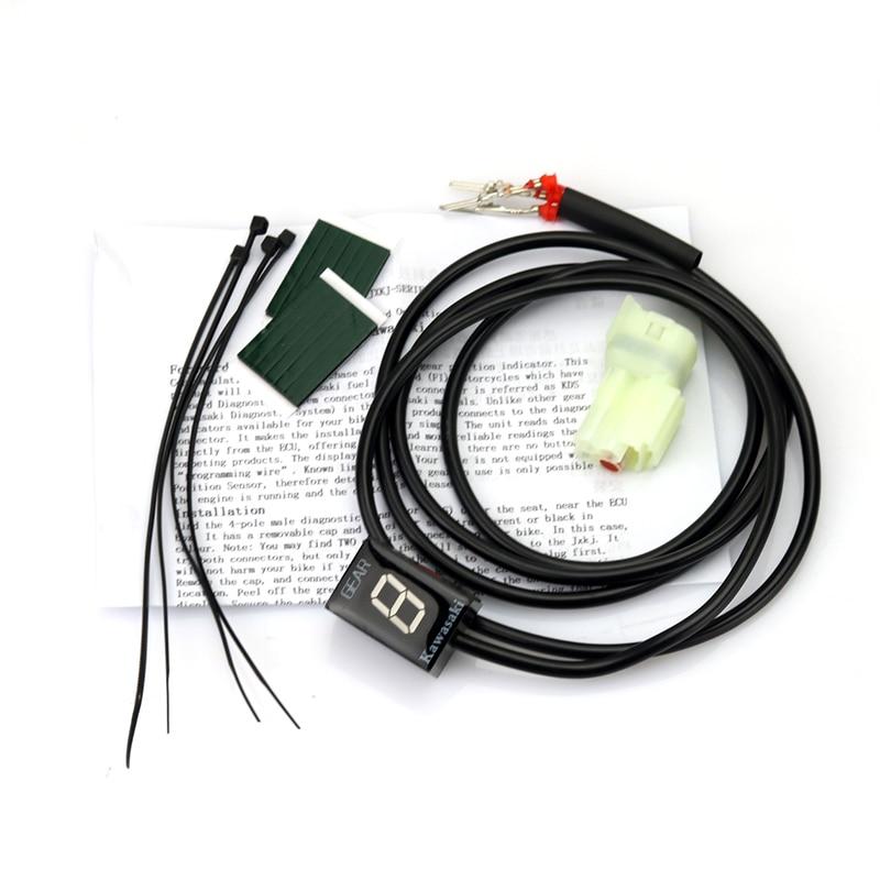Image 3 - Мотоцикл Ecu прямое Крепление 1 6 скорость шестерни дисплей индикатор для Kawasaki ER6N Z1000SX Ninja300 Z1000 Z800 Z750 versys 650 Z400-in Инструменты from Автомобили и мотоциклы