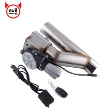 evil energy Universal 2 Stainless Steel Headers Y Pipe Electric Exhaust Y-Pipe Exhaust Wireless Remote Control Exhaust Cutout rastp exhaust control valve set with vacuum actuator cutout 3 0 76mm pipe close style with wireless remote controller rs bov041