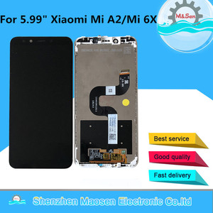 "Image 2 - Original M&Sen 5.99"" For Xiaomi Mi A2 MIA2 LCD Screen Display Touch Panel Digitizer With Frame For Mi 6X MI6X M6X Display+Tools"