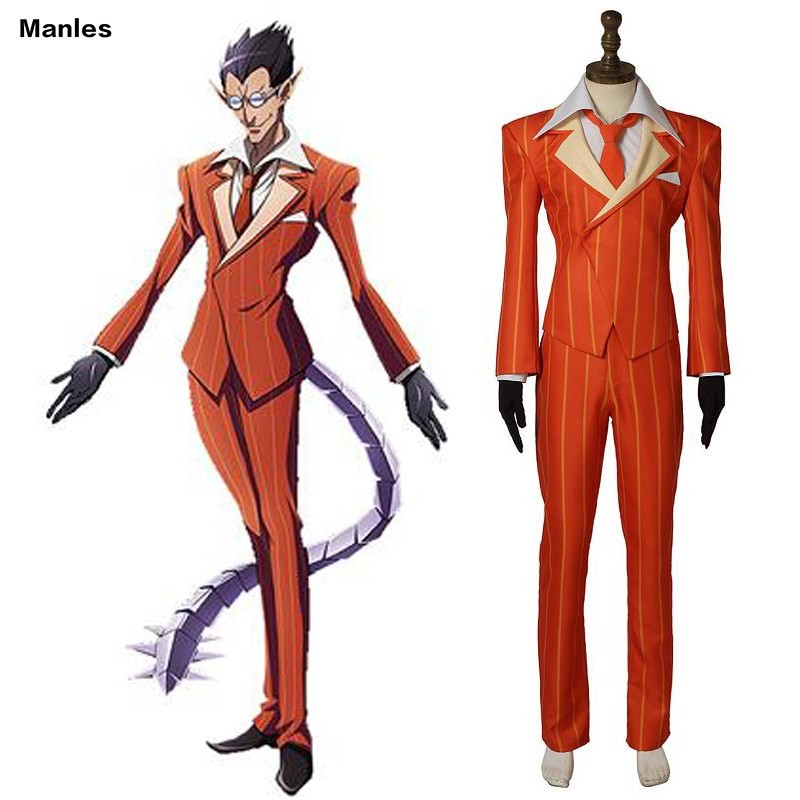 Anime OVER LORD Cosplay Demiurge Costume Carnival Adult Men Halloween Custom Made Full Set Uniform Stage Performence Archdevil