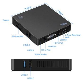 Z83II Mini 2G 64G Smart TV Box mini PC Atom x5-Z8350 Quad Core HD