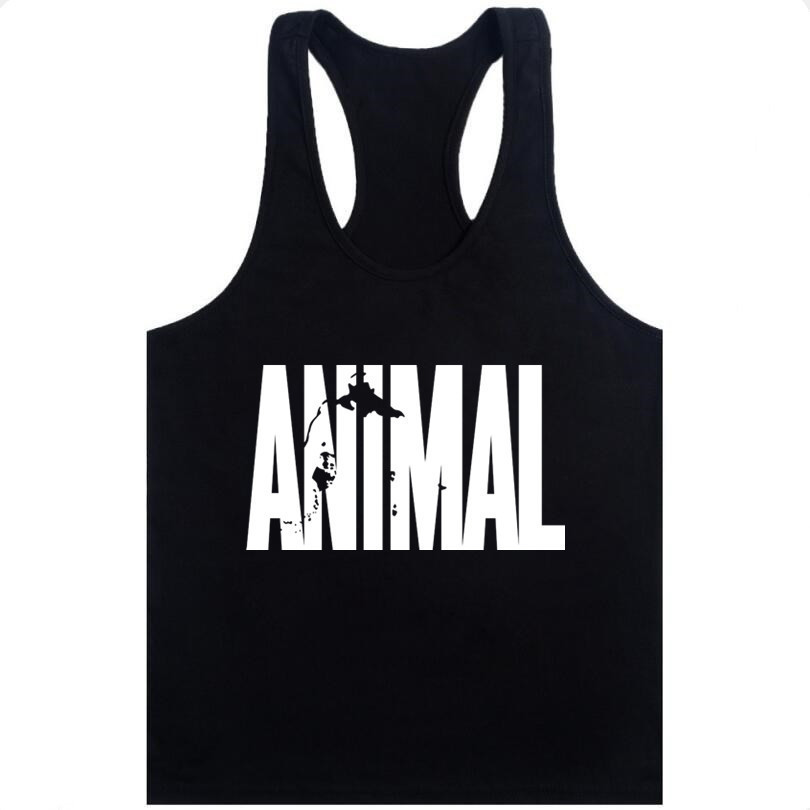 Animal Stringer Bodybuilding   Tank     Top   Solid Gym Singlet Muscle Mens Racer-back Vest Tee