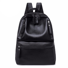 PU Leather Women's Backpacks Large Capacity Bag For Teenager