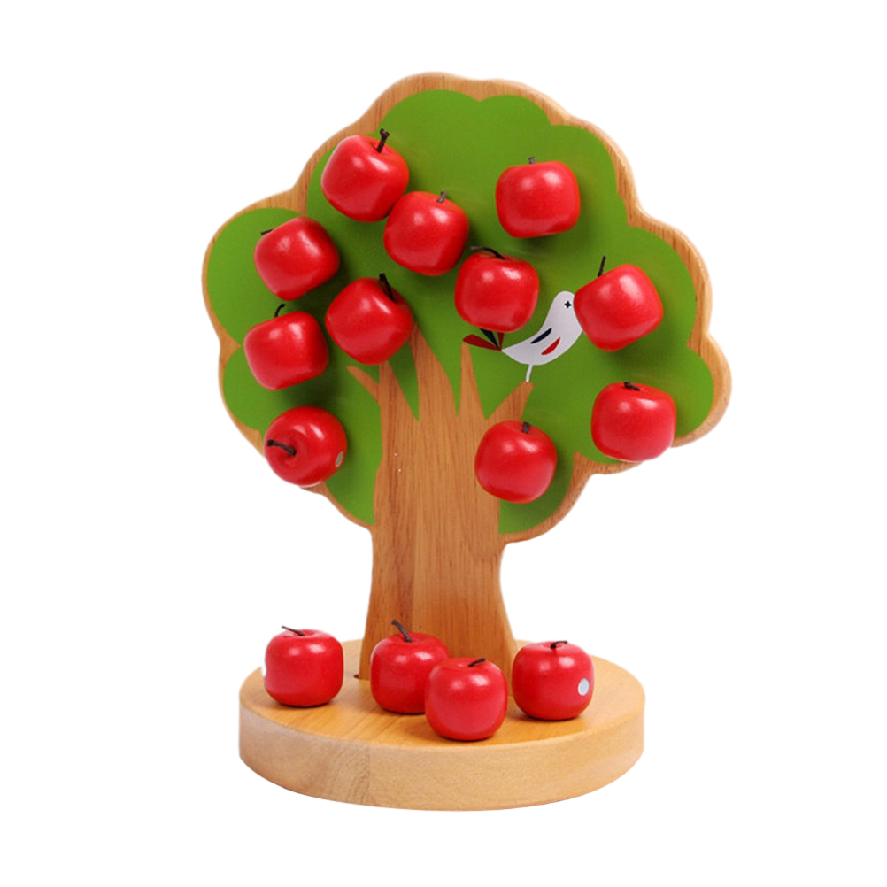 Baby Magnetische Houten Apple Tree Leren Voorschoolse Training Educatief Speelgoed Speelgoed Set Diy Bouwstenen Speeltoestel Voor Peuters
