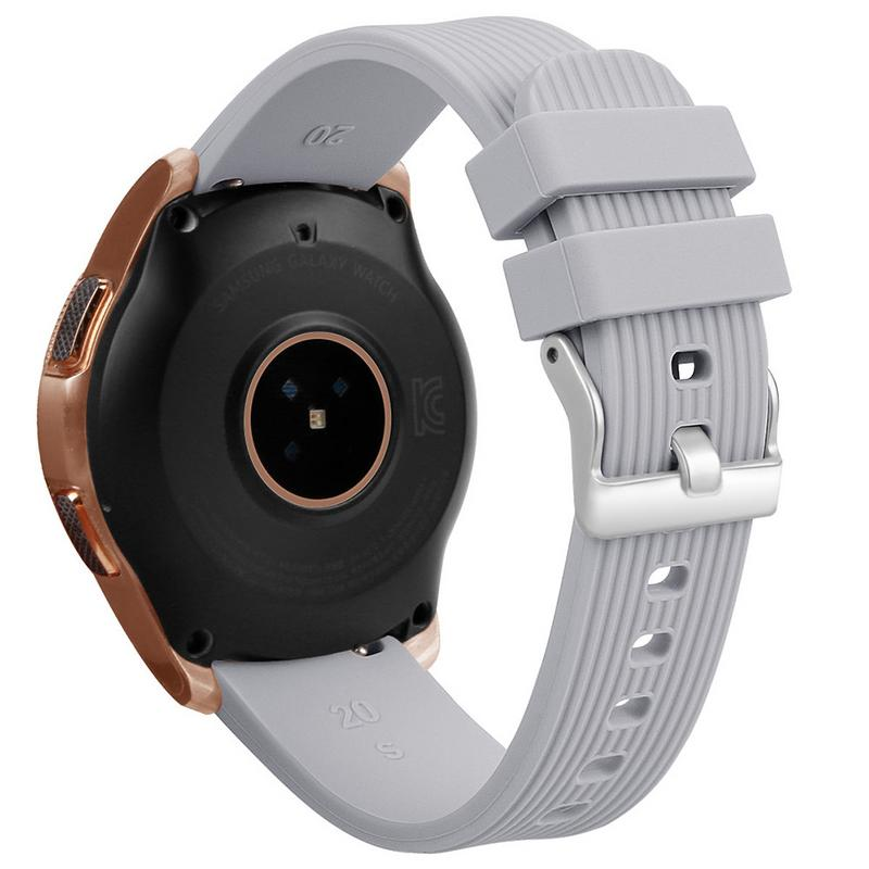 Image 3 - Silicone Bracelet Band 20MM Universal Wrist Strap Replacement Sports Smart Watch Watchband For Samsung Galaxy Long Lasting-in Smart Accessories from Consumer Electronics