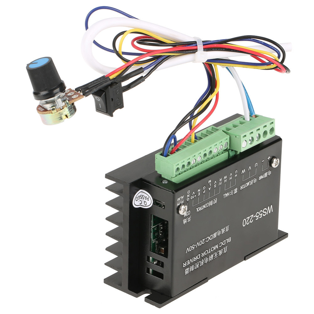 WS55-220 DC 48V 500W CNC Brushless Spindle BLDC Motor Driver Controller Hot