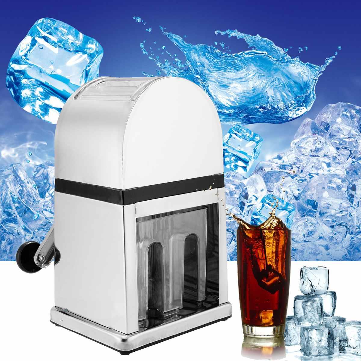 Acier inoxydable broyeur à glace accueil Bar manuel concasseur à glace rasoir fabricant de cône de neige bloc de glace Machine de rupture Machine à neige fondue