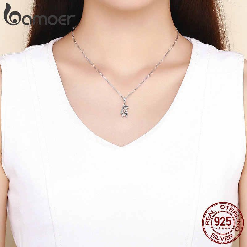 29334fac6c966 BAMOER 100% 925 Sterling Silver Lovely Giraffe Animal Pendant Charms Fit  Charm Bracelets & Bangles Fine Jewelry Making SCC976