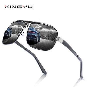 92d2da3311 La luz polarizada gafas de sol hombres serie dentro de grado 2019 azul moda  Vintage deporte al aire libre de conducción gafas de sol de marca de lujo