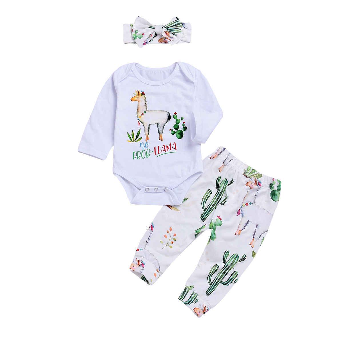 37146adb755b Detail Feedback Questions about Newborn Baby Autumn Winter Clothing Sets  Infant Boys Girls Cute Alpaca Bodysuits+Floral Pants+Headbands 3pcs Outfits  Set ...