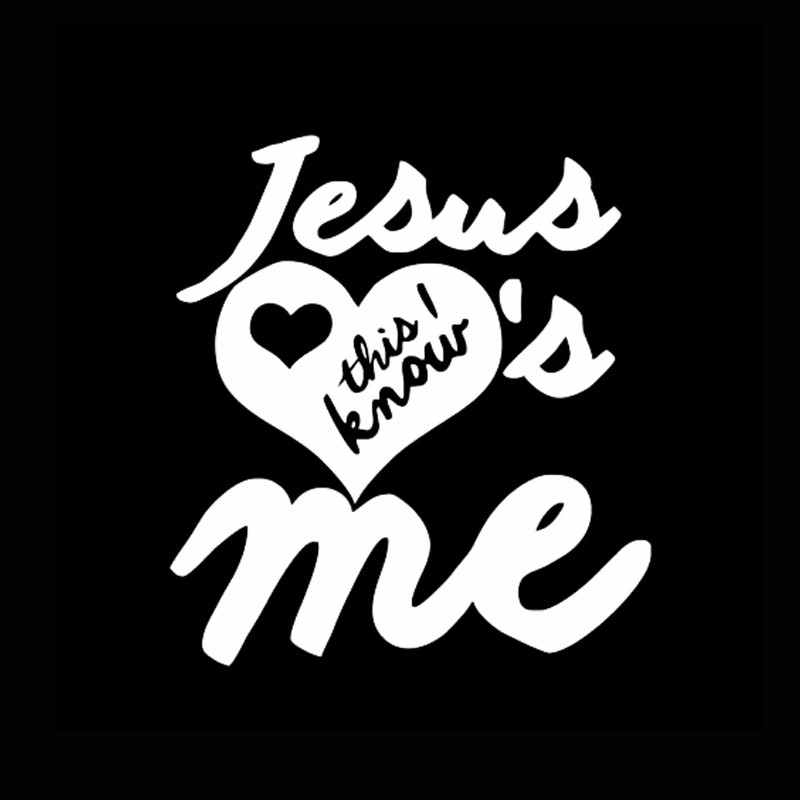 Car -covers Jesus Loves Me Sticker Christian Religious Bumper Body Decal Styling  Jdm
