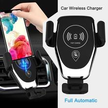 New Vehicular Wireless Charging Vehicle Gravity Induction Bracket Creative Outlet 10W Wireless Fast Charger Bracket For Phone