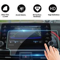 Nawigacja samochodowa  szkło hartowane dla Honda Accord 2018 2019 8 Cal Accord centralny zamek samochodu Film 8 Hole Screen Protector w Wykończenia wskaźników od Samochody i motocykle na