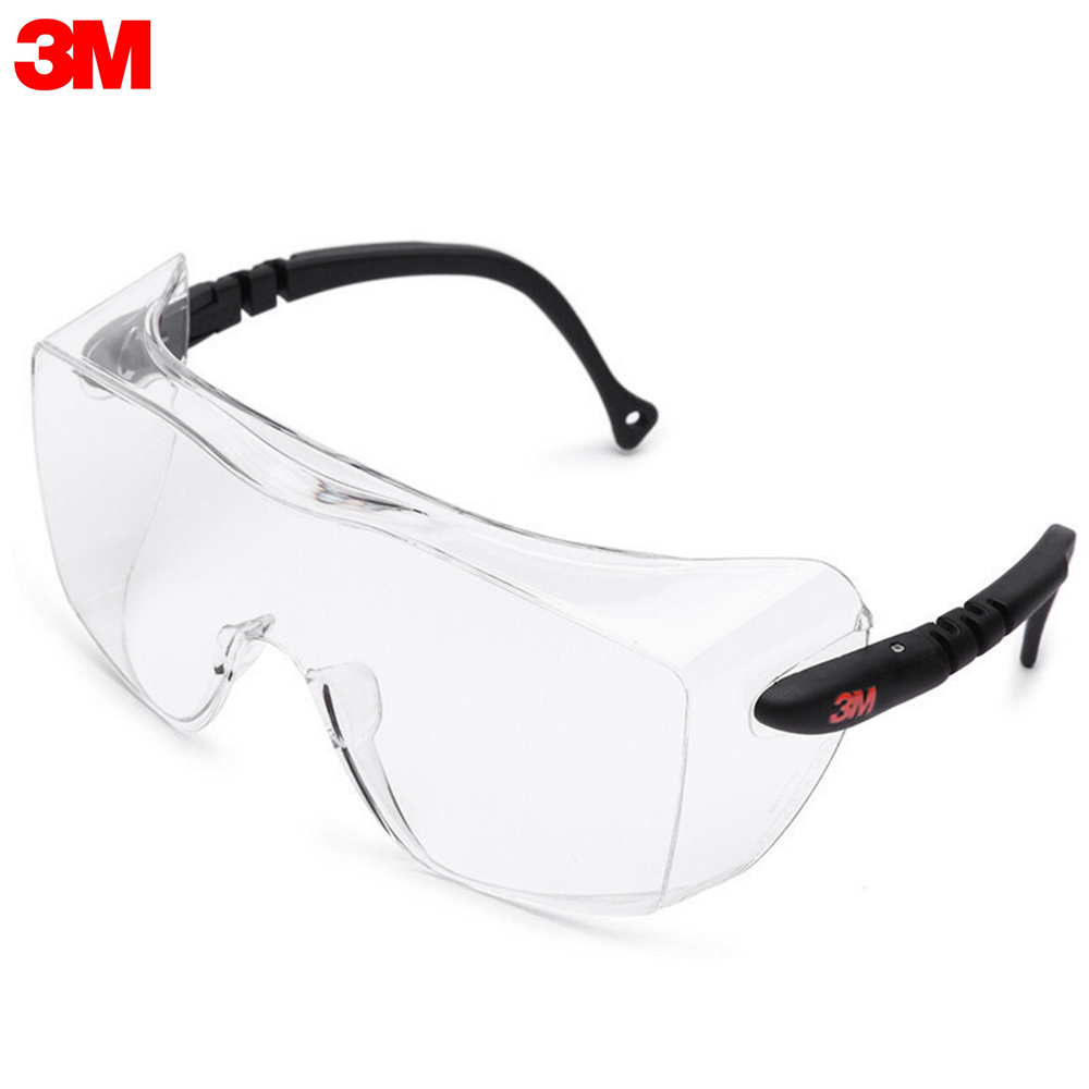 3M 12308 Safety Glasses Work Glasses Anti-Fog Safety Goggles Eyewear For Eye Protection Suitable For Wear Nearsighted Glasses