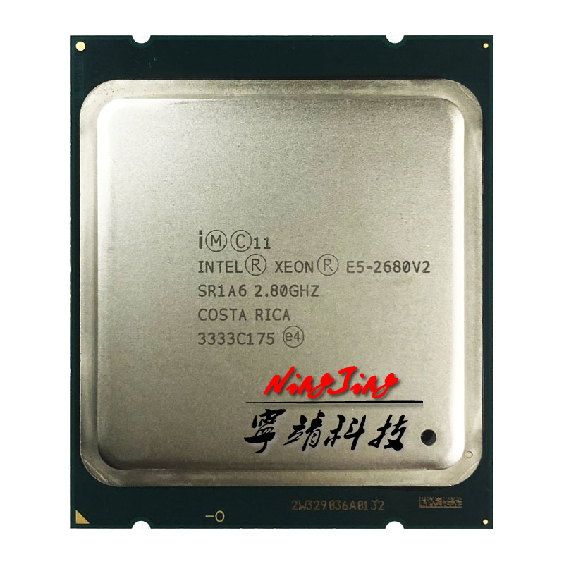 Intel Xeon E5 2680v2 E5 2680v2 E5 2680 v2 2 8 GHz Ten Core Twenty Thread