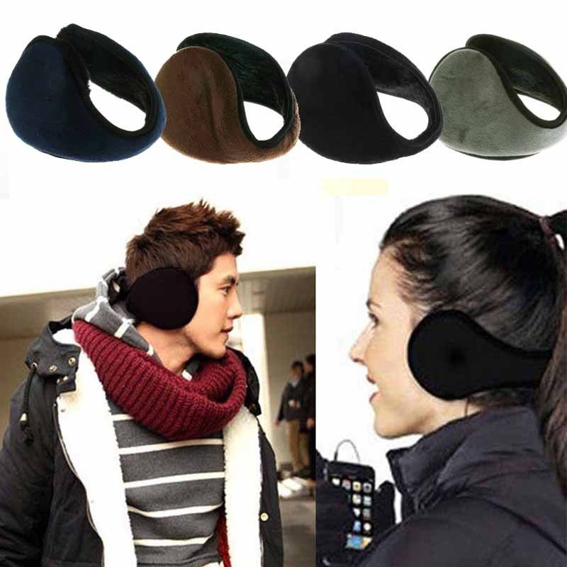Unisex Women Men Ear Muffs Winter Ear Warmers Ear Warmer Behind Head Band