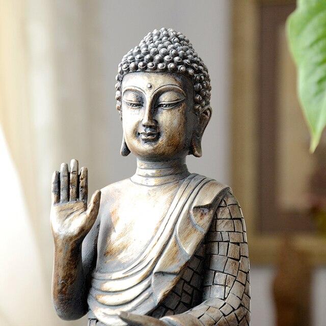 Buddha statues Thailand Buddha statue sculpture home decor office desk ornament vintage gift figurine Hindu siting Buddha 5