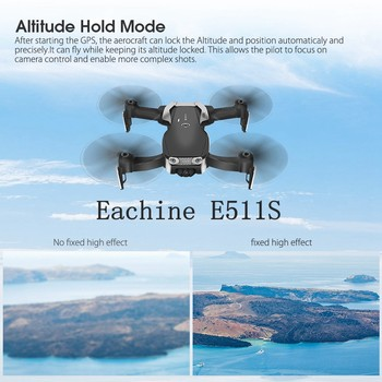 Eachine E511S 2.4G 4CH GPS 6-axis gyro Dynamic Follow WIFI FPV With 1080P Camera 16mins Flight Time RC Drone Quadcopter 2