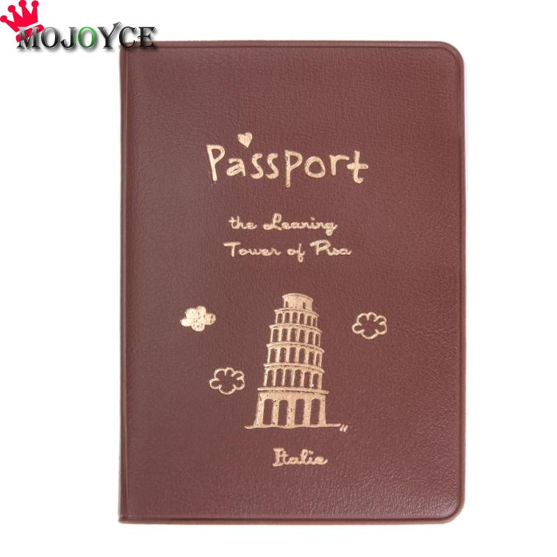 Simple Travel Passport Cover PU Multifunction Tickets Card Holder Case Card ID Holders Portefeuille Femme Credit Card Holder