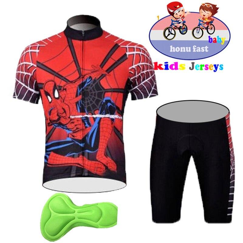 2020 novas crianças verão roupas de ciclismo bicicleta wear manga curta jérsei com shorts define crianças mtb menino/menina bicicleta estrada ternos
