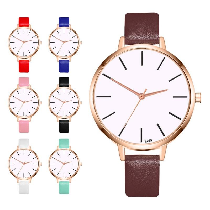 New Korean Casual Fashion Ladies Leather Quartz Business Watch Everyday Wear Matching Watch Party Birthday Gift