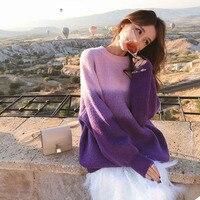 SCOORBEAutumn Winter Sweater Women 2018 Knit High Elastic Jumper Women Sweaters And Pullovers Female Blue Purple Tops Pull Femme