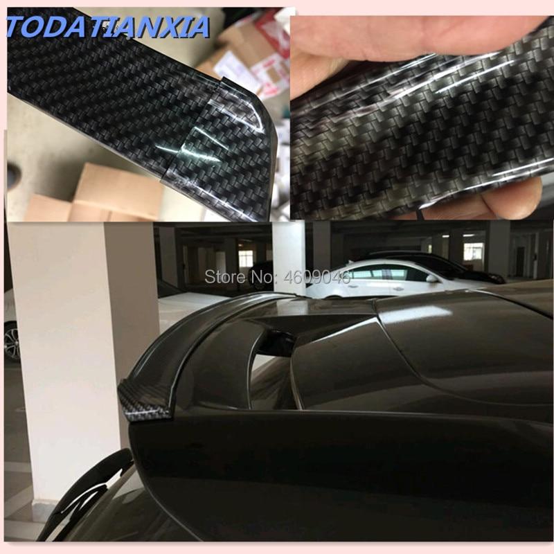 Aileron de voiture fibre de carbone pour renault captur dacia duster golf mk5 citroën c4 picasso bmw x5 e70 pour mazda 3 pour jeep renegade