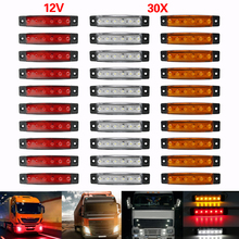 10 шт 6 SMD светодиодный авто грузовик шины грузовой прицеп сбоку маркер указатели поворота сигнальные огни хвост, предупреждение Лампа для фары заднего света 12 V