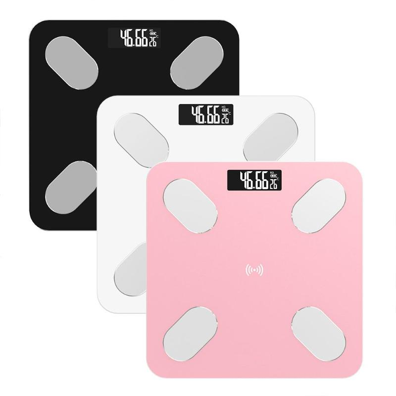 LCD Digital Smart Voice Bluetooth APP Electronic Scales Body