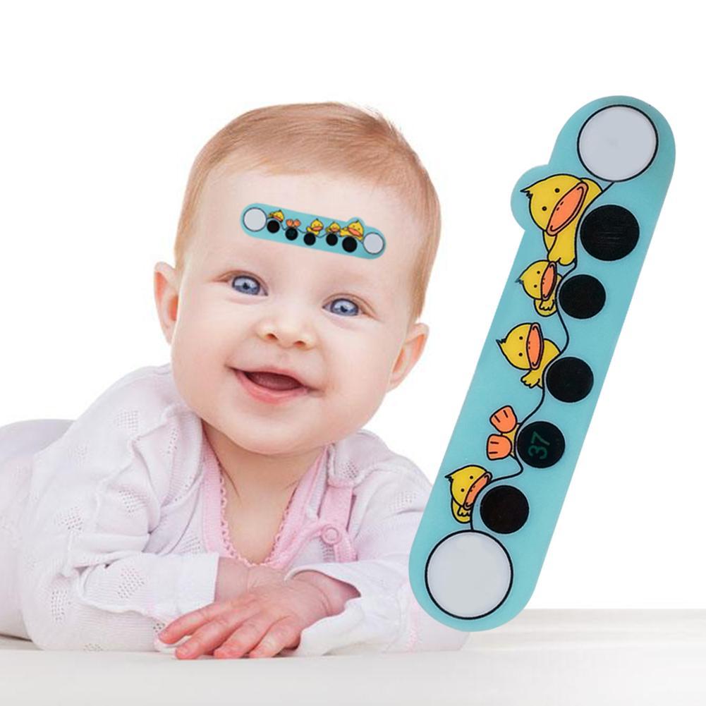 1 Stücke Cartoon Aufkleber Lcd Stirn Thermometer Körper Fieber Thermometer Stirn Für Kinder Kümmern Thermometer Zufällig Stil