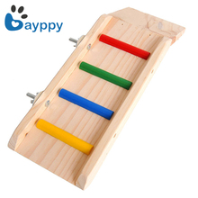 Hamster Toy Wooden Board Jumping Springboard Slides Grinding Deck Ladders Small Chinchilla Squirrel Hedgehog Cage Accessories