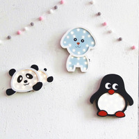 Nordic Style Cute Panda Penguin Night Light LED Baby Bedside Lamp Children Room Wall Hanging Decoration Children's Day Gift