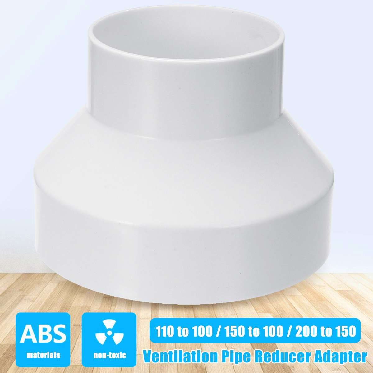 Ventilation Pipe Reducer Adapter Pipe Fittings 110 to 100 / <font><b>150</b></font> to 100 / <font><b>200</b></font> to <font><b>150</b></font> ABS New Arrival image