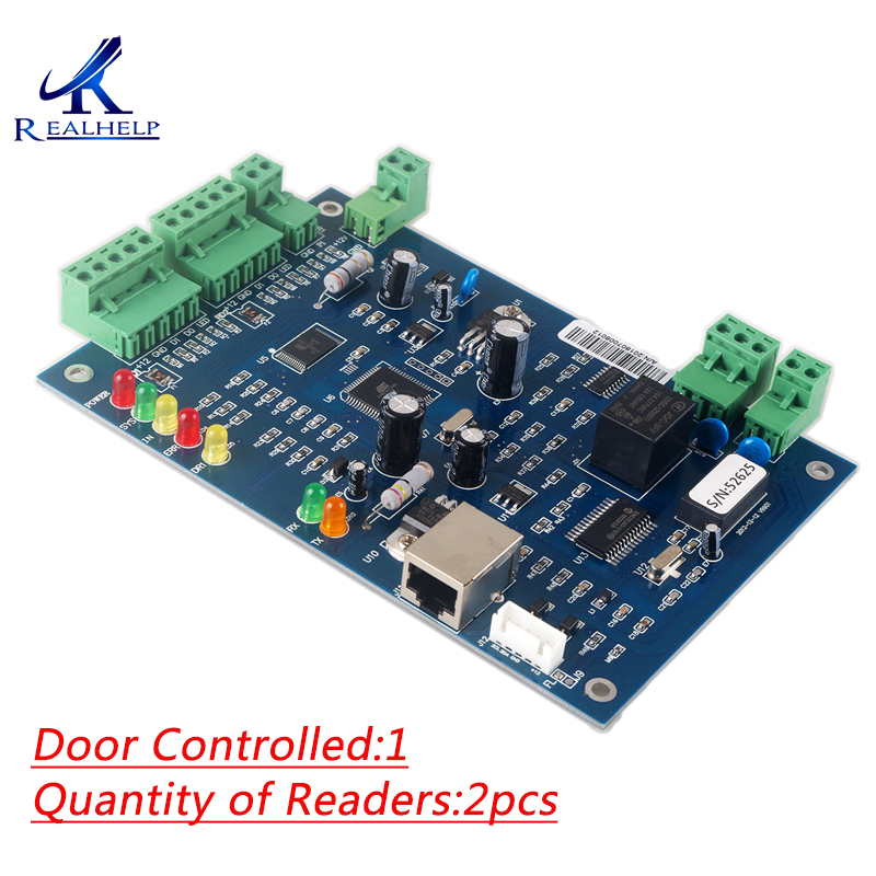20 000 Users Access Control Panels and Boards For 1 door 2 card reader TCP IP