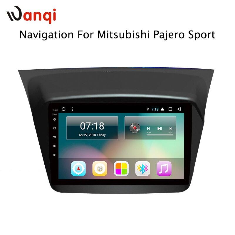 Per Mitsubishi Pajero Sport 2013-2017 9 pollici Touch Screen 2G di RAM Android 8.1 gps Per Auto di navigazione costruito in wifi bluetooth