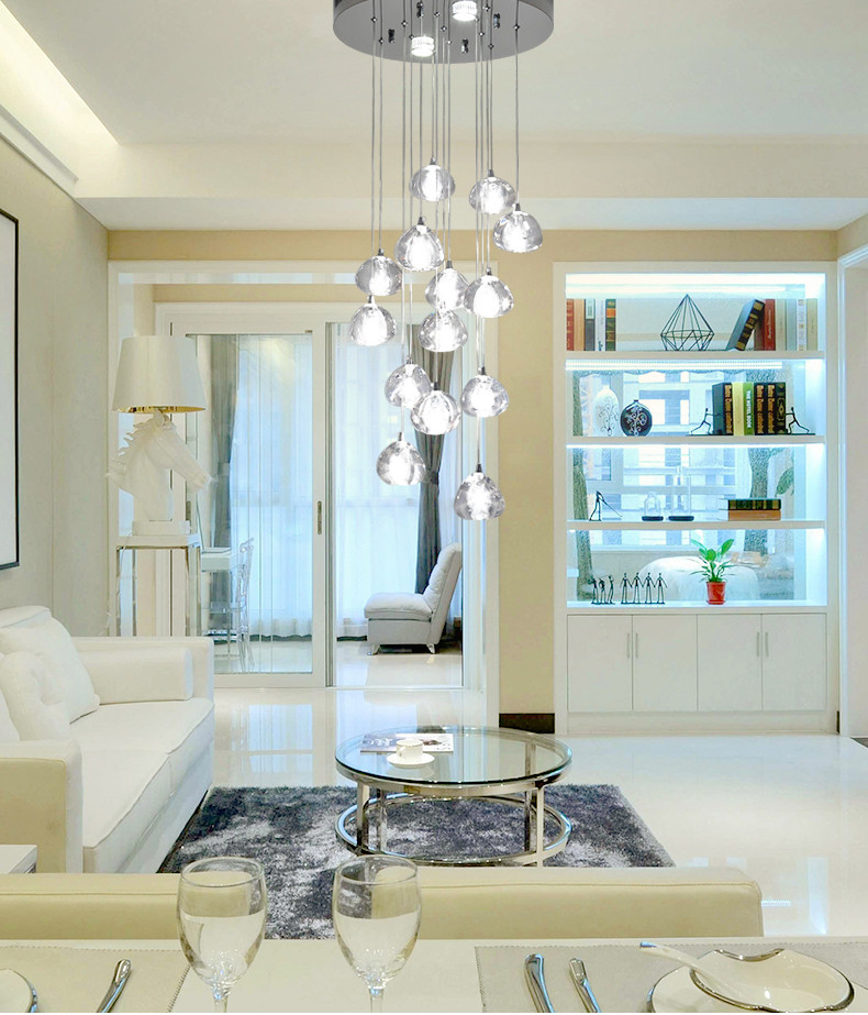moderm vidro indoor iluminacao restaurante 03